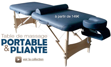 table de massage. Black Bedroom Furniture Sets. Home Design Ideas
